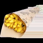 Букет из желтых тюльпанов 21 шт