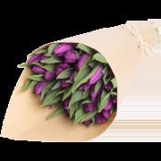 Букет из сиреневых тюльпанов 21 шт