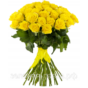 Букет из 25 желтых роз 60 см