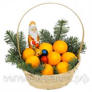 """Корзина с апельсинами """"Новогодняя"""""""
